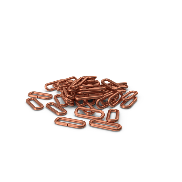 Pile Of Chain Links Bronze PNG & PSD Images