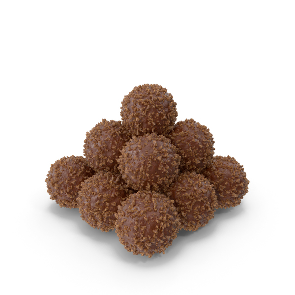 Pile of Chocolate Balls with Nuts PNG & PSD Images