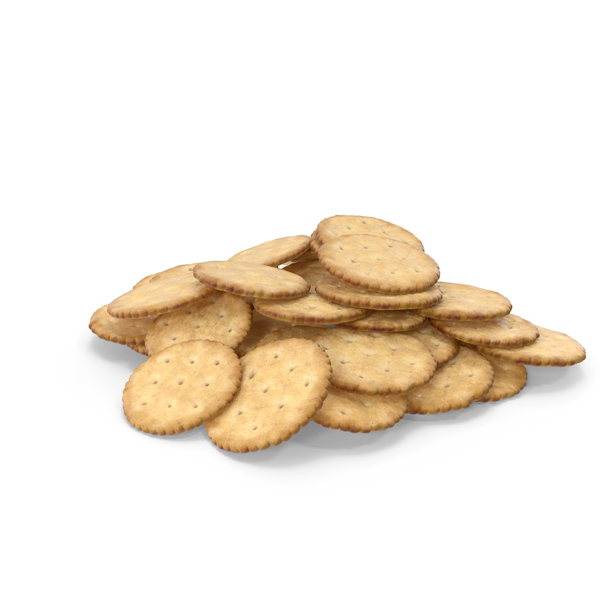 Cracker: Pile of Circular Crackers PNG & PSD Images