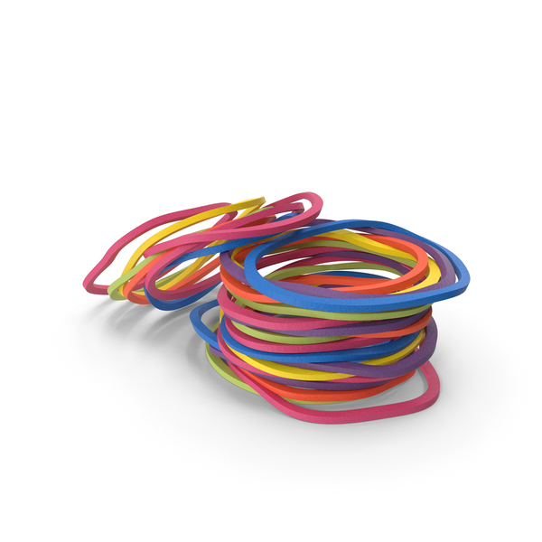 Pile of Colored Rubber Bands PNG & PSD Images
