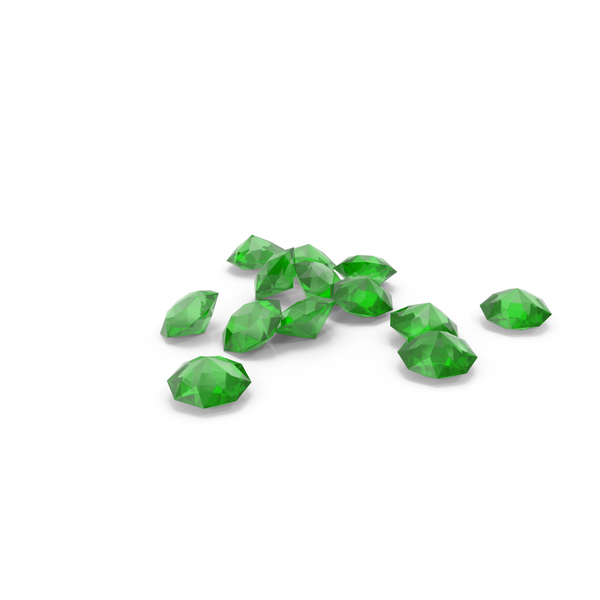 Pile Of Diamonds Green PNG & PSD Images