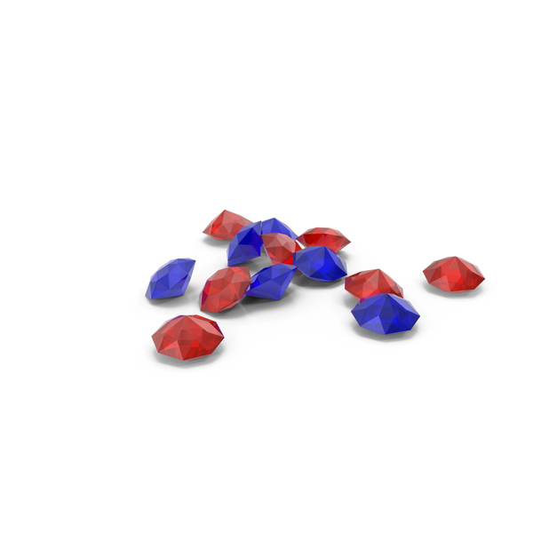 Diamond: Pile Of Diamonds Red Blue PNG & PSD Images