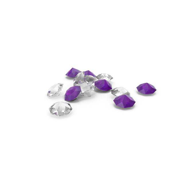 Diamond: Pile Of Diamonds White Purple PNG & PSD Images