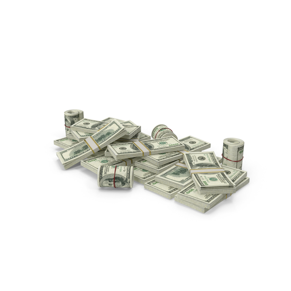 Banknote: Pile of Dollar Stacks PNG & PSD Images