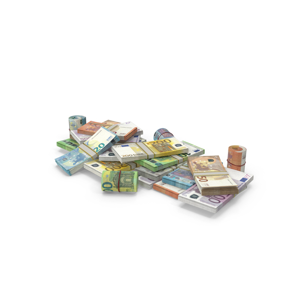 Pile of Euro Stacks PNG & PSD Images
