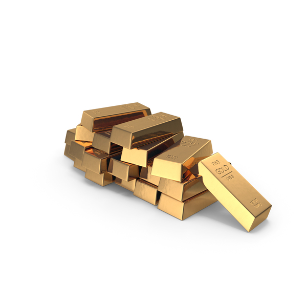 Pile of Gold Bars PNG & PSD Images