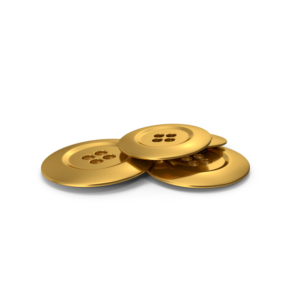 Pile Of Gold Cloth Buttons PNG & PSD Images