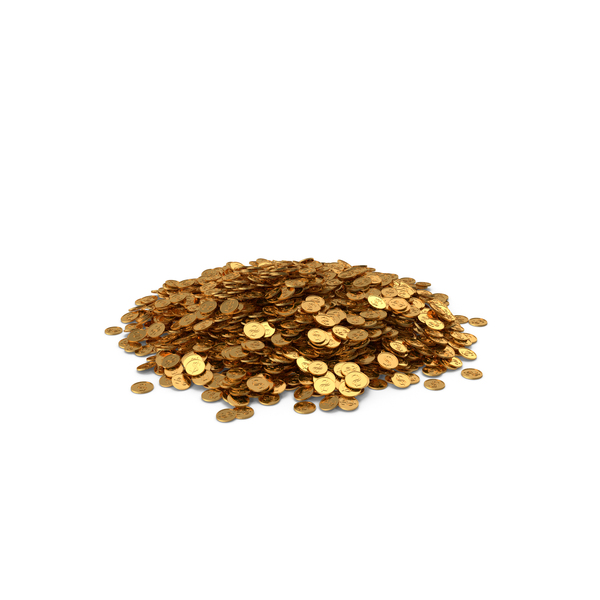 Coin: Pile of Gold Coins Dollar PNG & PSD Images