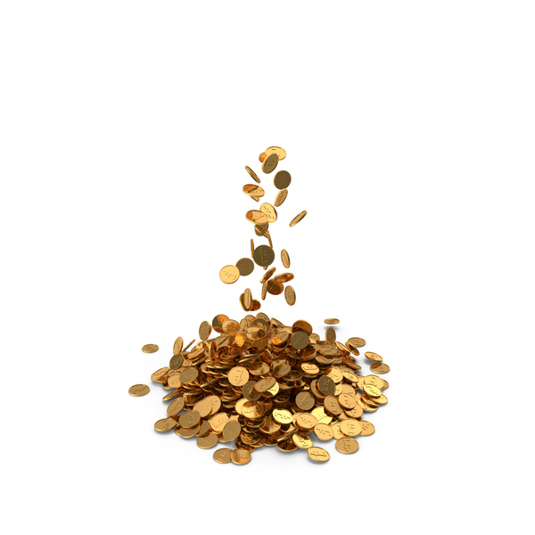 Pile of Gold Coins Franc PNG & PSD Images
