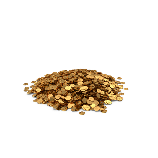 Pile of Gold Coins RUB PNG & PSD Images