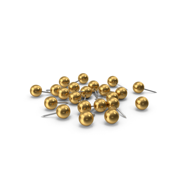 Pile Of Gold Push Pins PNG & PSD Images