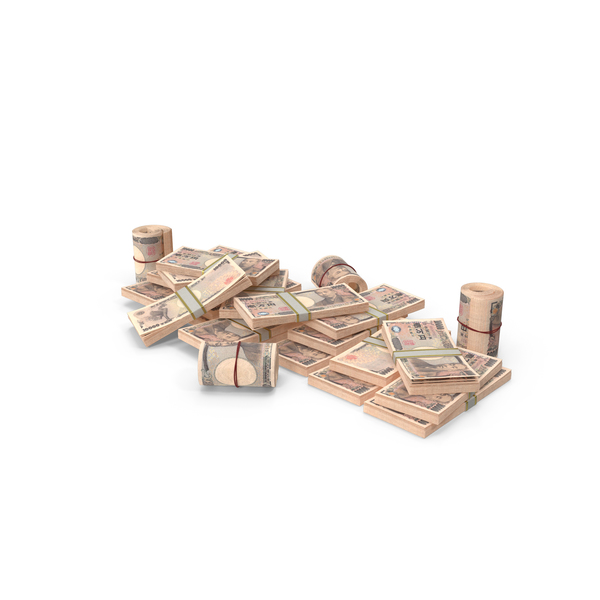 Banknote: Pile of Japanese Yen Stacks PNG & PSD Images