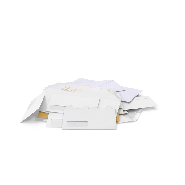Envelope: Pile of Mail PNG & PSD Images