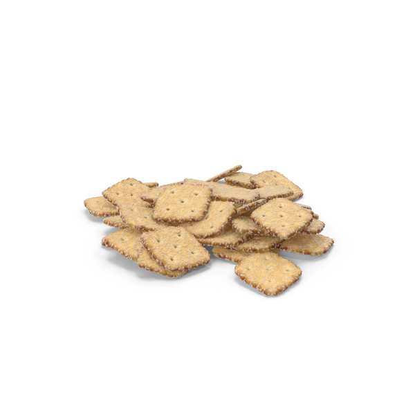 Cracker: Pile of Mini Rhombus Crackers with Sesame PNG & PSD Images