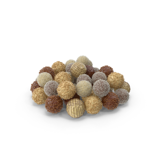 Pile of Mixed Chocolate Balls PNG & PSD Images