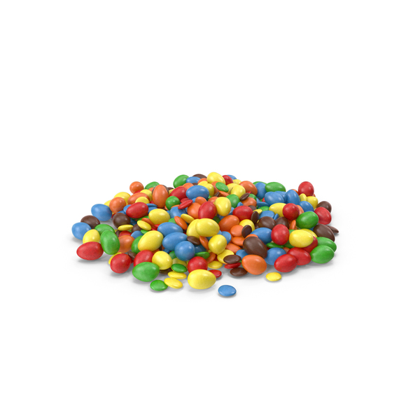 Pile Of Mixed Color Coated Chocolate Candy PNG & PSD Images