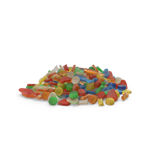 Pile Of Mixed Gummy Candy PNG & PSD Images