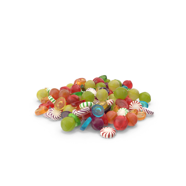 Pile of Mixed Hard Candy PNG & PSD Images