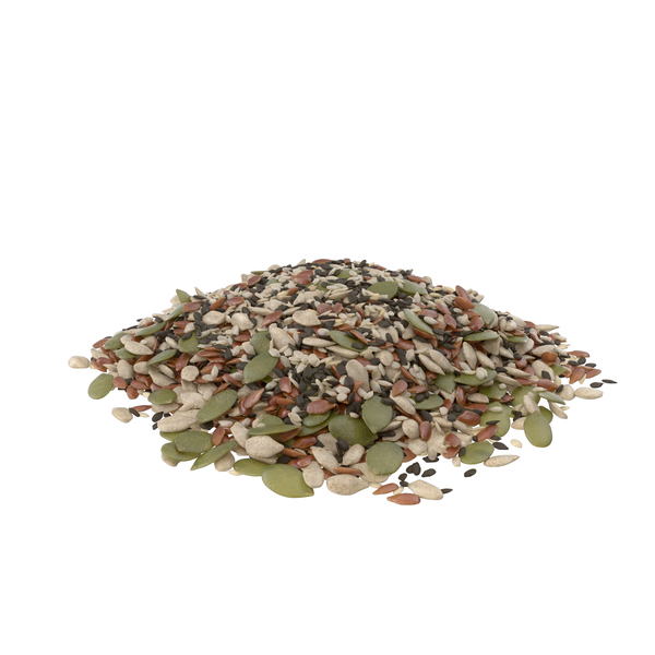 Pile of Mixed Healthy Seeds PNG & PSD Images