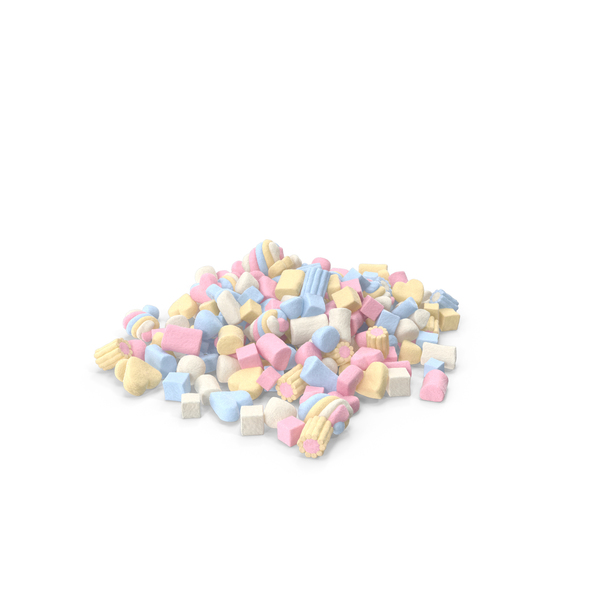 Pile Of Mixed Marshmallows PNG & PSD Images