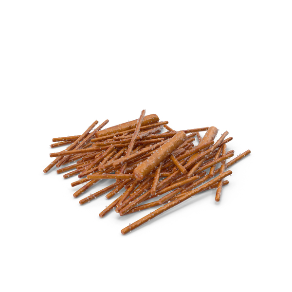 Pile Of Mixed Salty Pretzel Sticks PNG & PSD Images