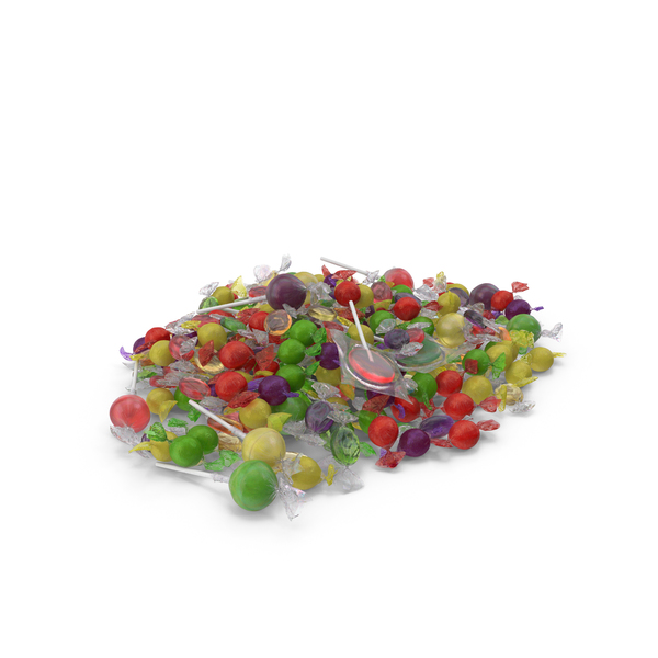 Pile of Mixed Wrapped Hard Candy PNG & PSD Images