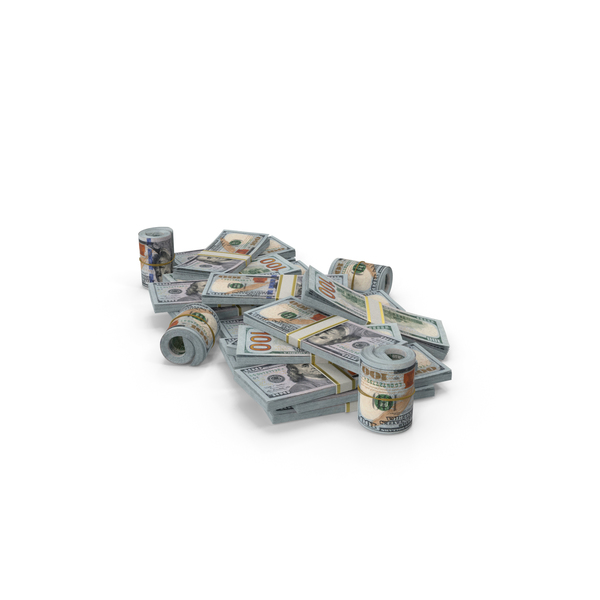 Pile of New Dollar Stacks PNG & PSD Images