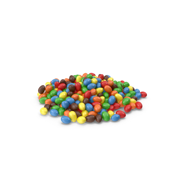 Pile of Peanuts with Colored Chocolate Coating PNG & PSD Images