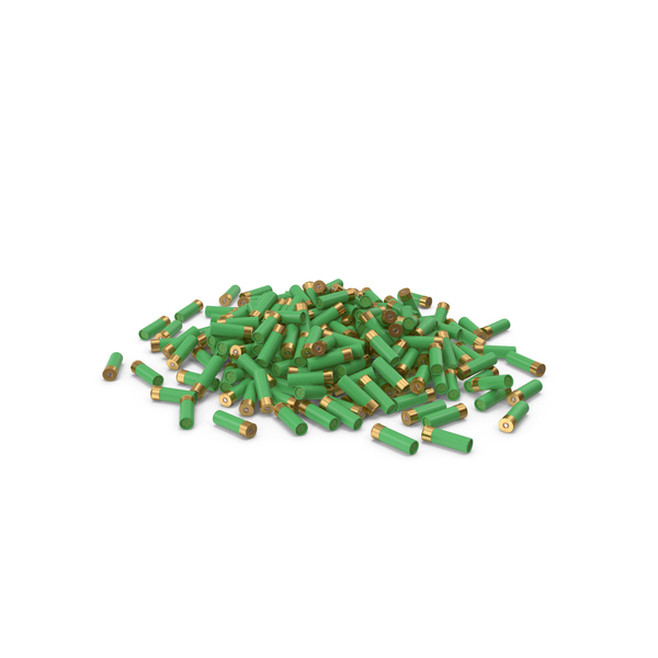 Pile Of Shotgun Cartridge Green PNG & PSD Images