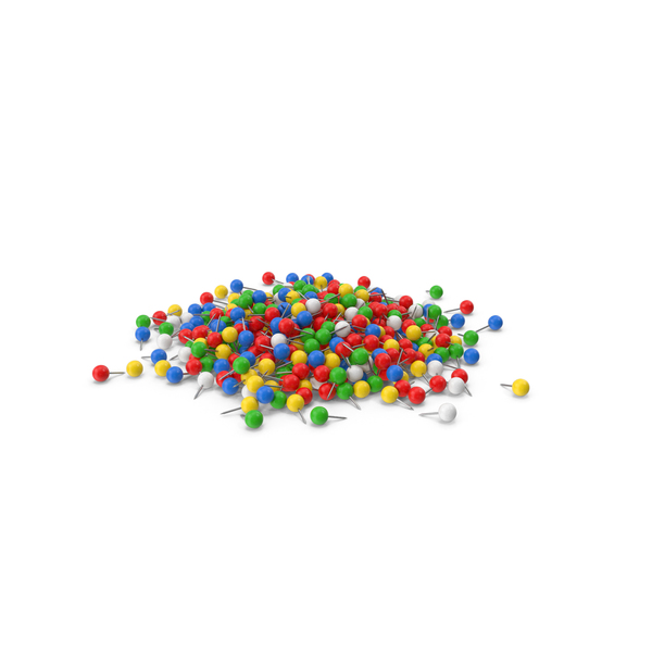 Office Supplies: Pile Of Sphere Push Pin PNG & PSD Images