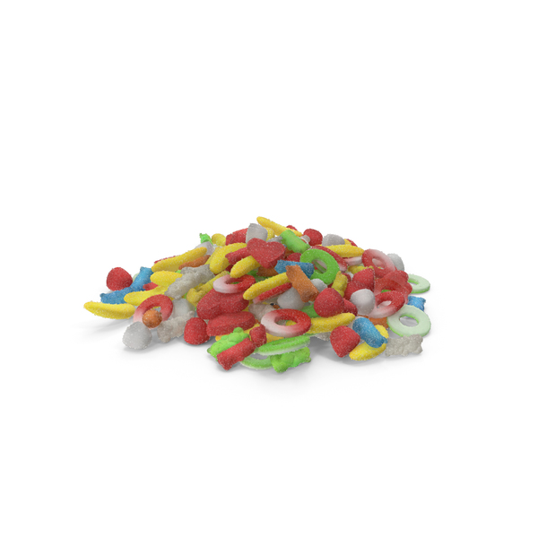Pile of Sugar Coated Gummy Candy PNG & PSD Images