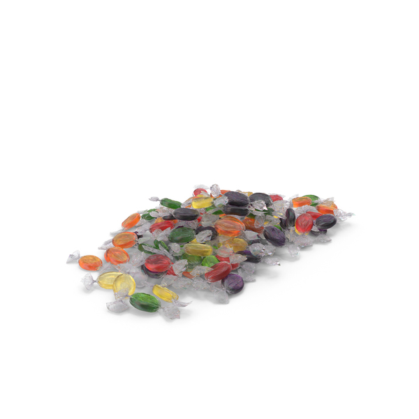 Pile of Wrapped Oval Candy PNG & PSD Images