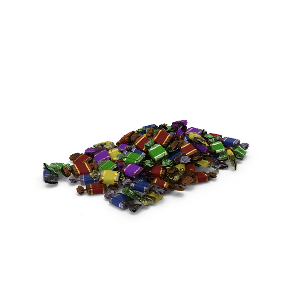 Pile of Wrapped Toffee Candy PNG & PSD Images