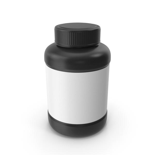 Pill Bottle Black PNG & PSD Images
