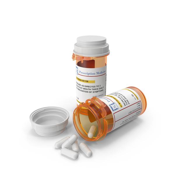 Medicine: Pill Bottle Set PNG & PSD Images