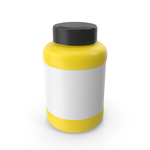 Pill Bottle Yellow PNG & PSD Images