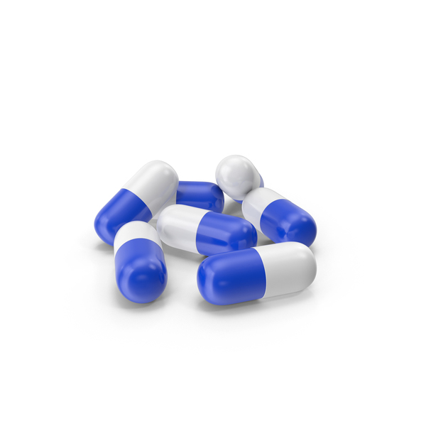 Pill Capsules Blue White PNG & PSD Images