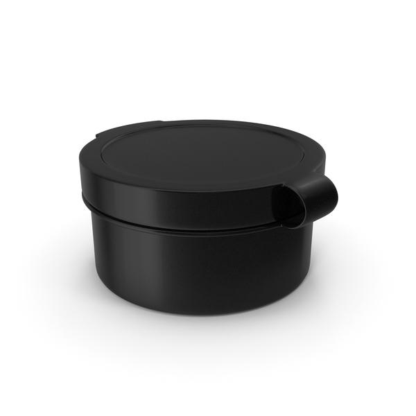 Pill Pod Hinge Top 1/2oz Black PNG & PSD Images