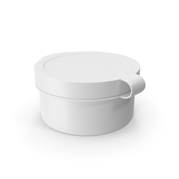 Pill Pod Hinge Top 1/2oz White PNG & PSD Images