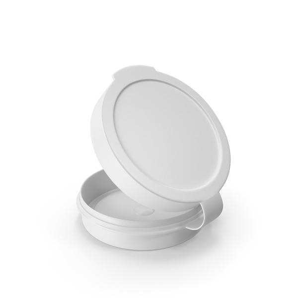 Pill Pod Hinge Top 1/4oz Open White PNG & PSD Images