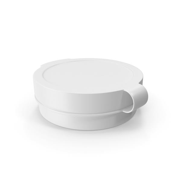 Pill Pod Hinge Top 1/4oz White PNG & PSD Images