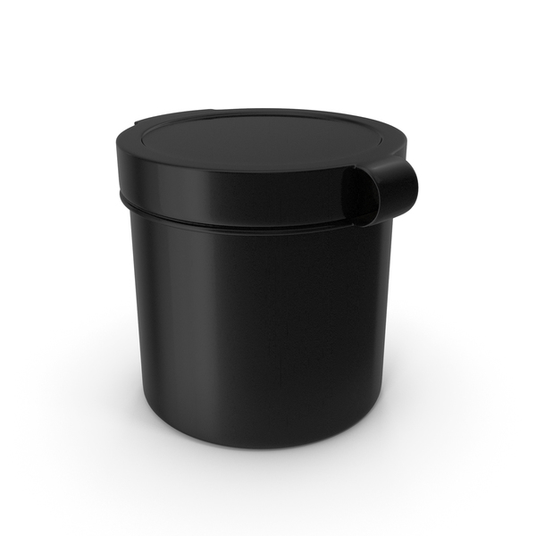 Pill Pod Hinge Top 1oz Black PNG & PSD Images
