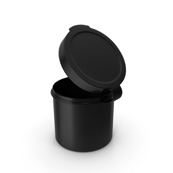 Pill Pod Hinge Top 1oz Open Black PNG & PSD Images