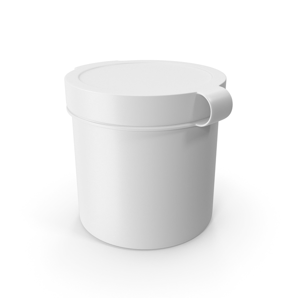 Pill Pod Hinge Top 1oz White PNG & PSD Images