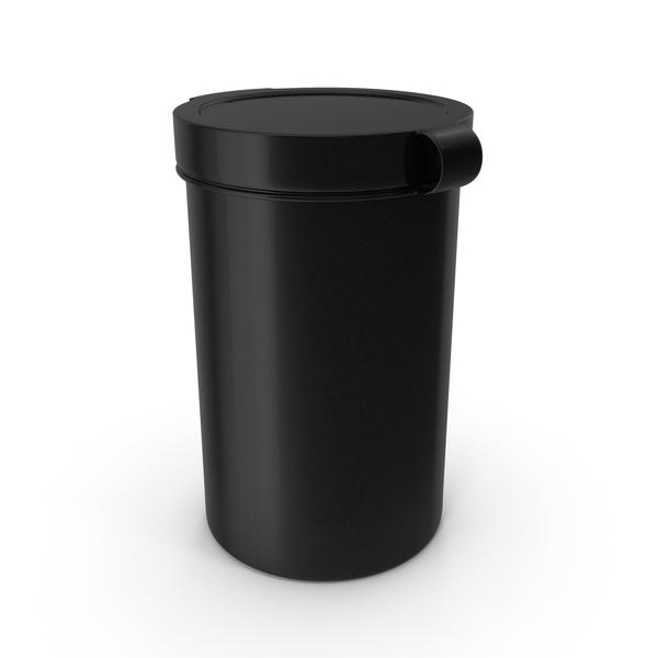 Pill Pod Hinge Top 4oz Black PNG & PSD Images
