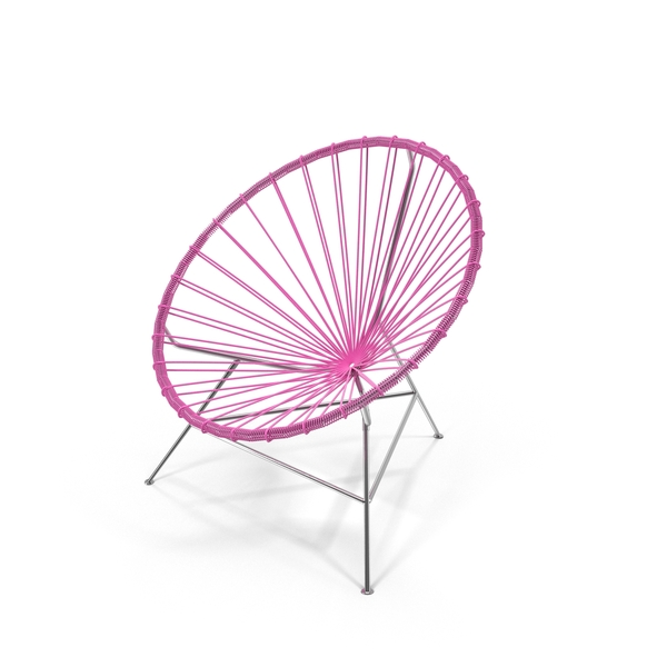 Outdoor: Pink Acapulco Chair PNG & PSD Images