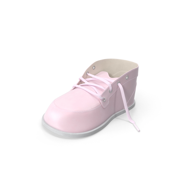 Children's: Pink Baby Shoe PNG & PSD Images