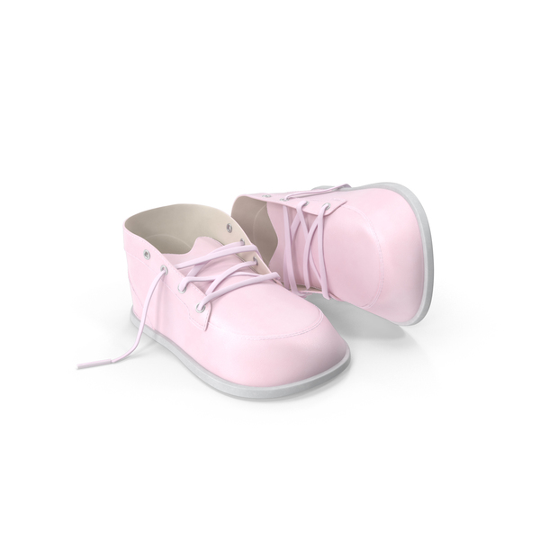 Children's Shoe: Pink Baby Shoes Object