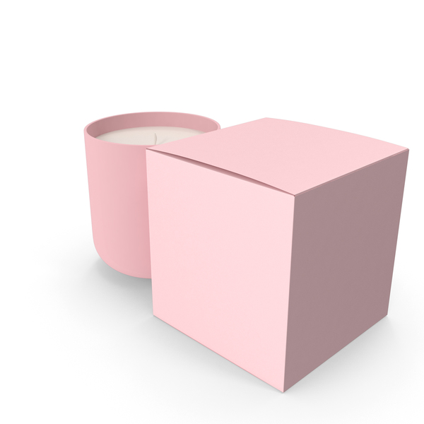 Pink Candle with Box PNG & PSD Images