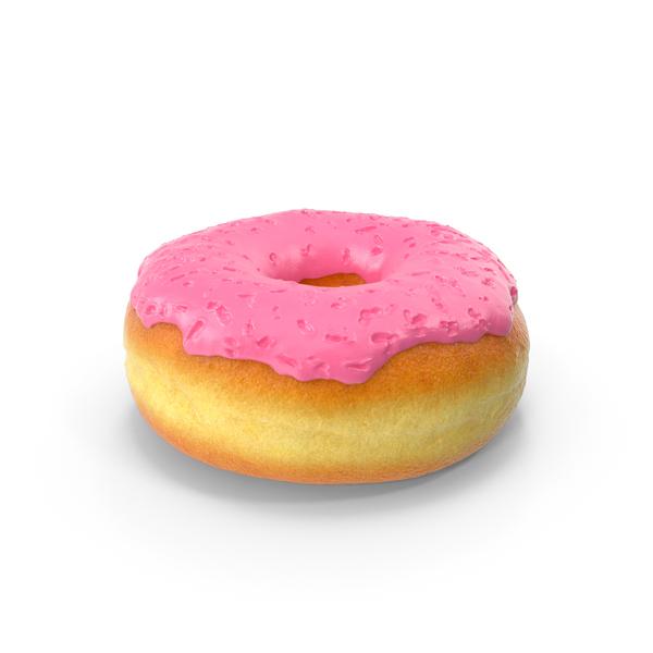 Glazed: Pink Donut PNG & PSD Images